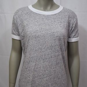 PINK Heather Gray Ringer T-Shirt NWT